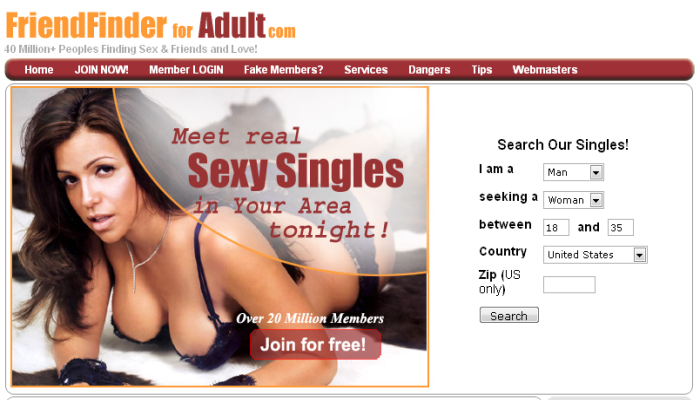 Adultfriendfinder homepage