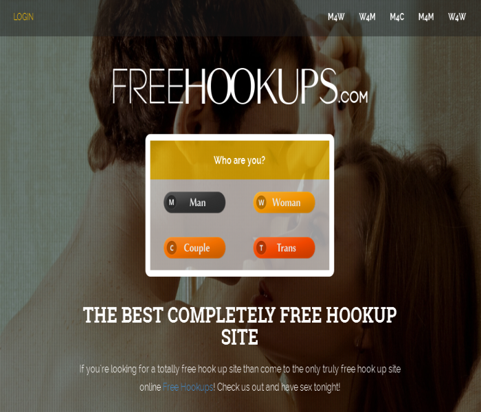 FreeHookups Homerpage