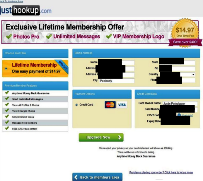 hook up site scams